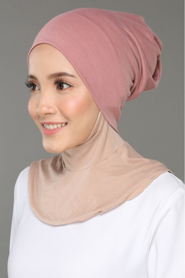 Sous Hijab Collection Basic Bonnet Rose
