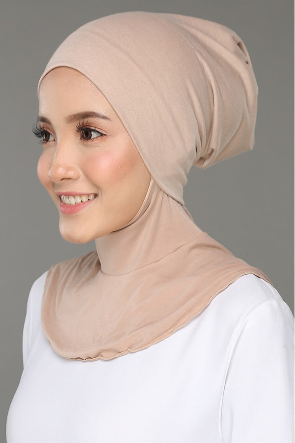 Sous Hijab Collection Basic Bonnet Beige