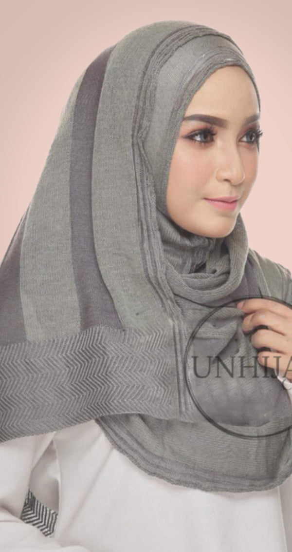Hijab Collection Dahlia Gris/Vert