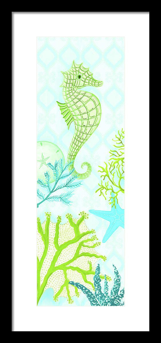 Seahorse Reef Panel I Framed Print by Andi Metz