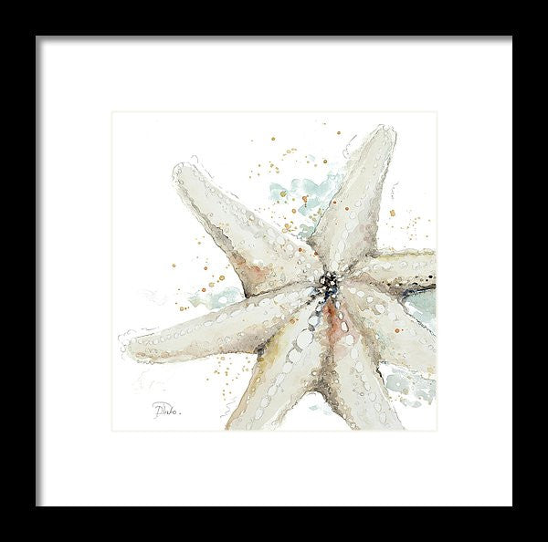 Water Starfish Framed Print by Patricia Pinto