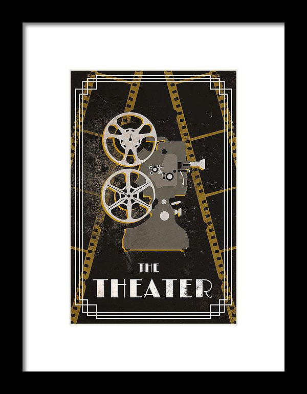 Cinema And Theater I Framed Print by South Social Studio