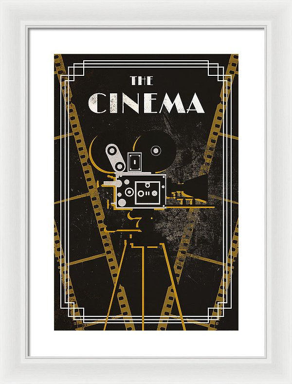 Cinema And Theater II Framed Print by South Social Studio