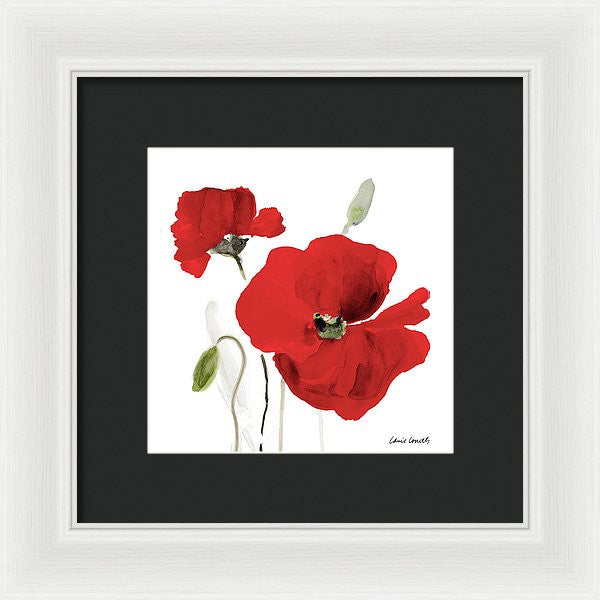 All Red Poppies I Framed Print by Lanie Loreth