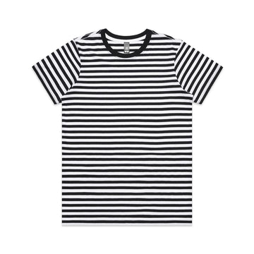 Women's Maple Stripe Tee Shirt | Custom Blanks - Band Merch and On-Demand Designer Shirts