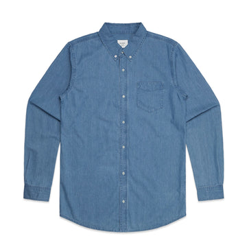 Men's Blue Denim Button Down | Custom Blanks - Band Merch and On-Demand Designer Shirts