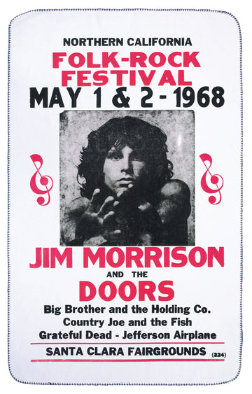 Jim Morrison & The Doors Tour Poster Band Blanket | Arena