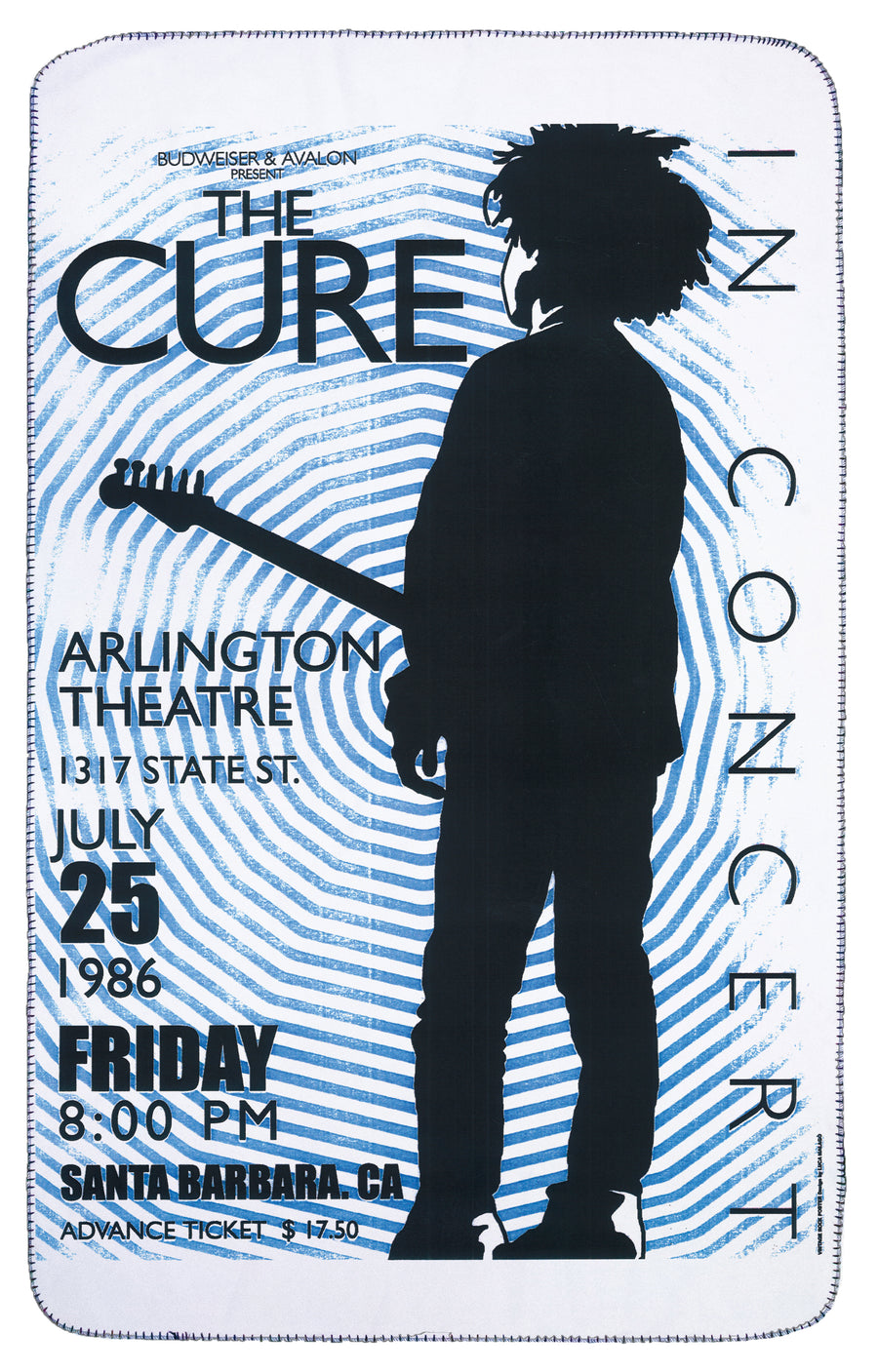 The Cure Tour Poster Band Blanket | Arena