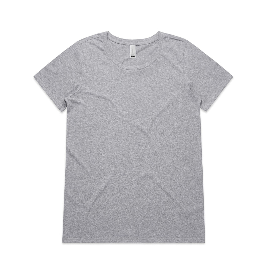 Women's Shallow Scoop Tee Shirt | Custom Blanks - Band Merch and On-Demand Designer Shirts