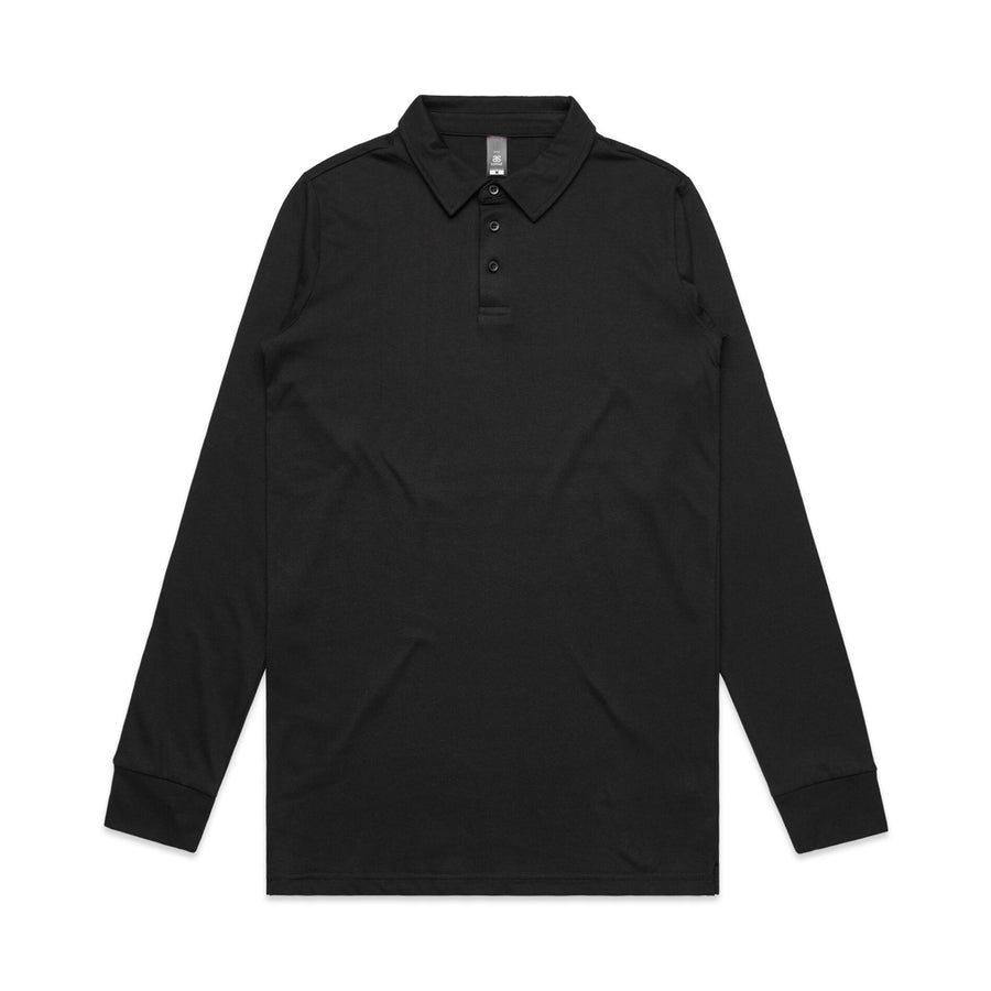 Men's Long Sleeve Chad Polo | Custom Blanks - Band Merch and On-Demand Designer Shirts