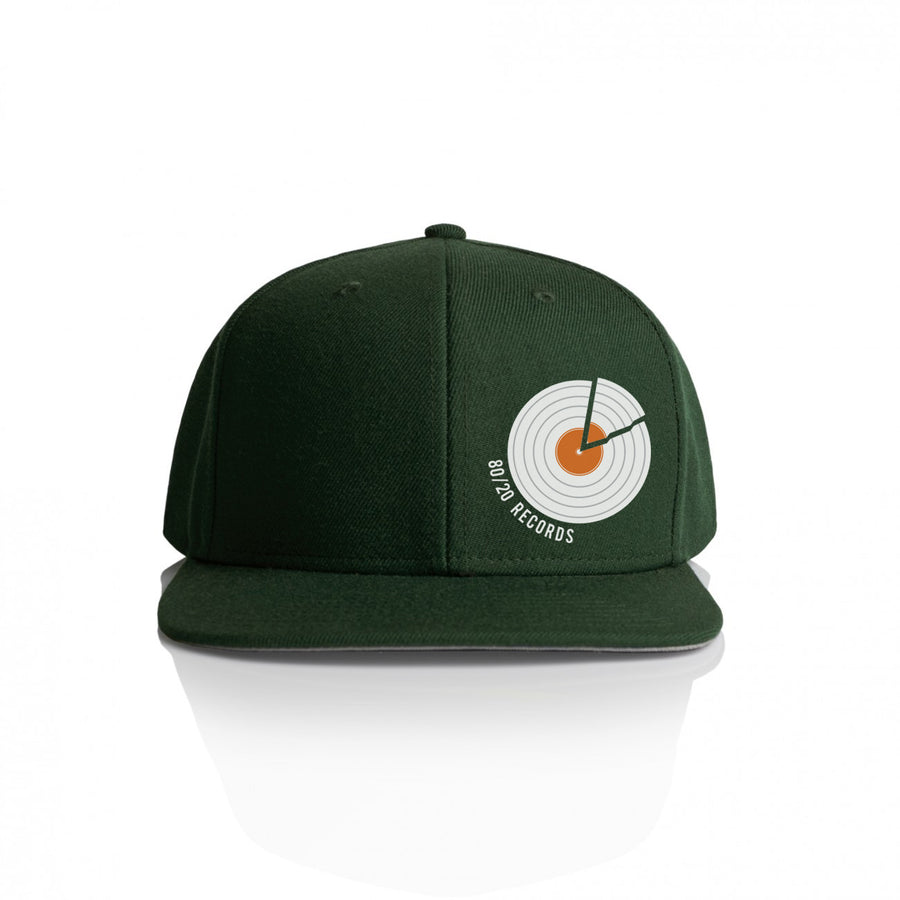 80/20 Records Hat Green