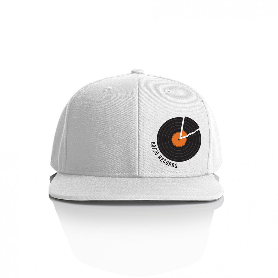 80/20 Records Hat White