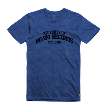 80/20 Records - Tumble Tee Shirt - Band Merch and On-Demand Designer Shirts