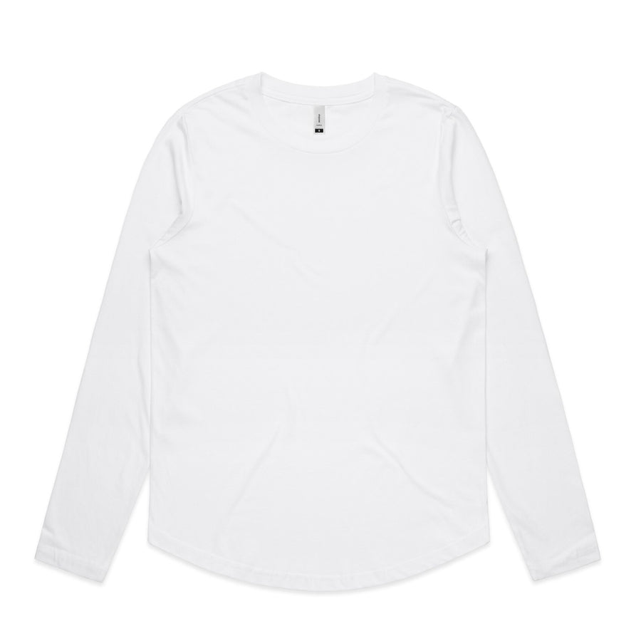 Wo's Curve Long Sleeve Tee Shirt | Custom Blanks - Band Merch and On-Demand Designer Shirts