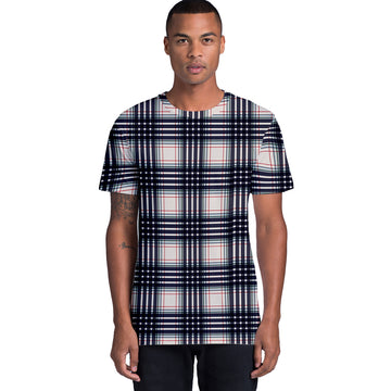 Black Plaid: Unisex Dye Sub Tee Shirt | Arena
