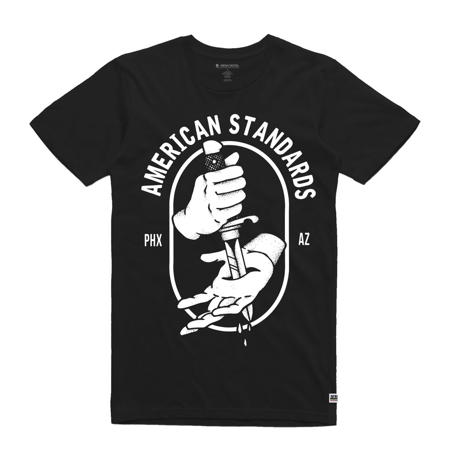 American Standards Dagger  - Unisex Tee Shirt - Band Merch and On-Demand Designer Shirts