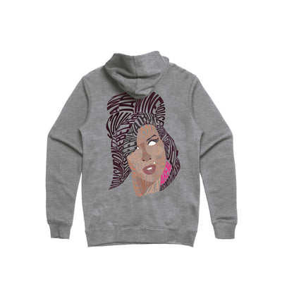 Amy Winehouse - Unisex Heavyweight Zip Up Hoodie