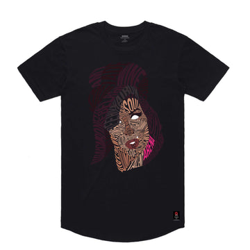 Amy Winehouse - Men's Curved Hem Tee Shirt