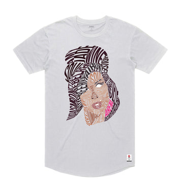 Amy Winehouse - Men's Curved Hem Tee Shirt - Band Merch and On-Demand Designer Shirts