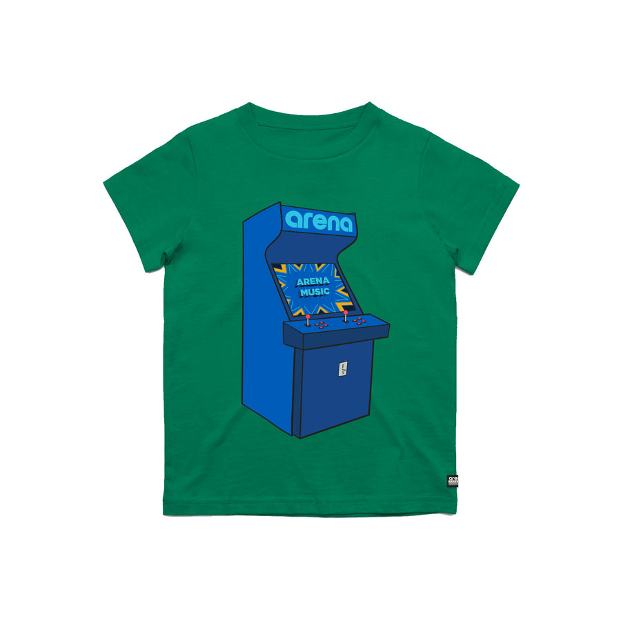 Arcade Kelly Green Kid's Tee Shirt