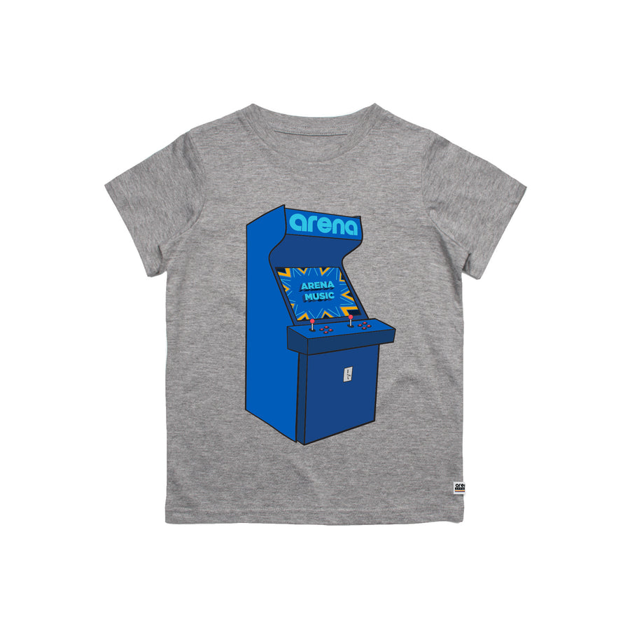 Arcade Heather Grey Kid's Tee Shirt
