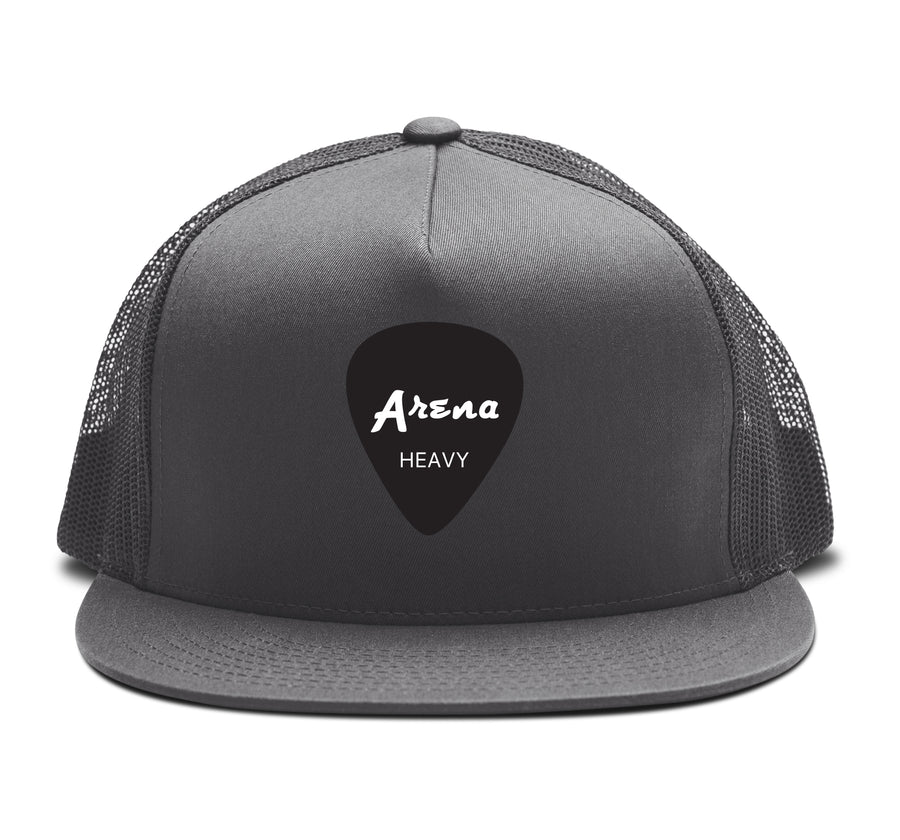 Arena Guitar Pick Snapback Hat Grey
