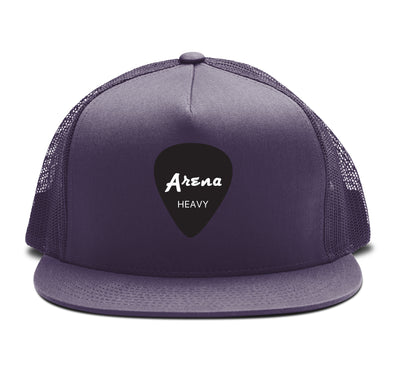 Arena Guitar Pick Snapback Hat Purple
