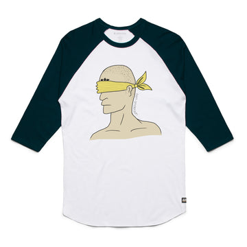 Ben Anderson - Blindfold Unisex Raglan Tee Shirt - Band Merch and On-Demand Designer Shirts