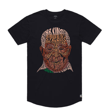 BB King - Men's Curved Hem Tee Shirt - Band Merch and On-Demand Designer Shirts