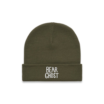 Bear Ghost Beanie Army Green