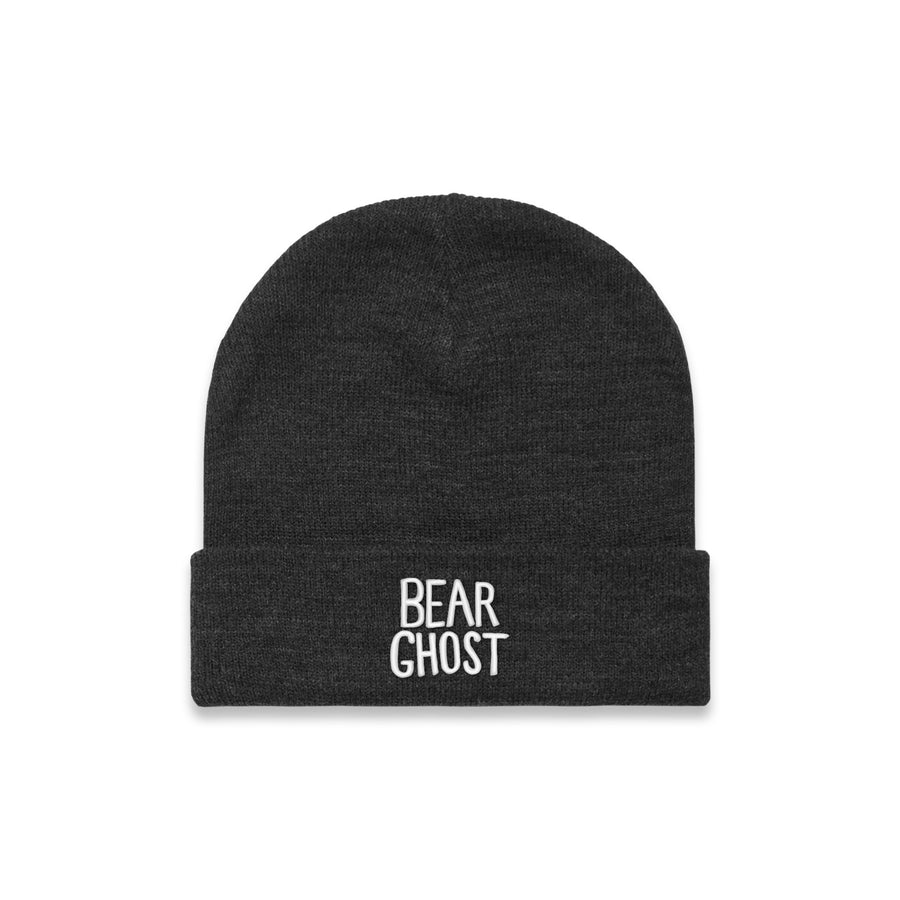 Bear Ghost Beanie Asphalt Heather