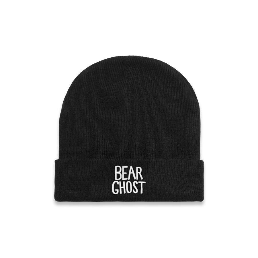 Bear Ghost Beanie Black