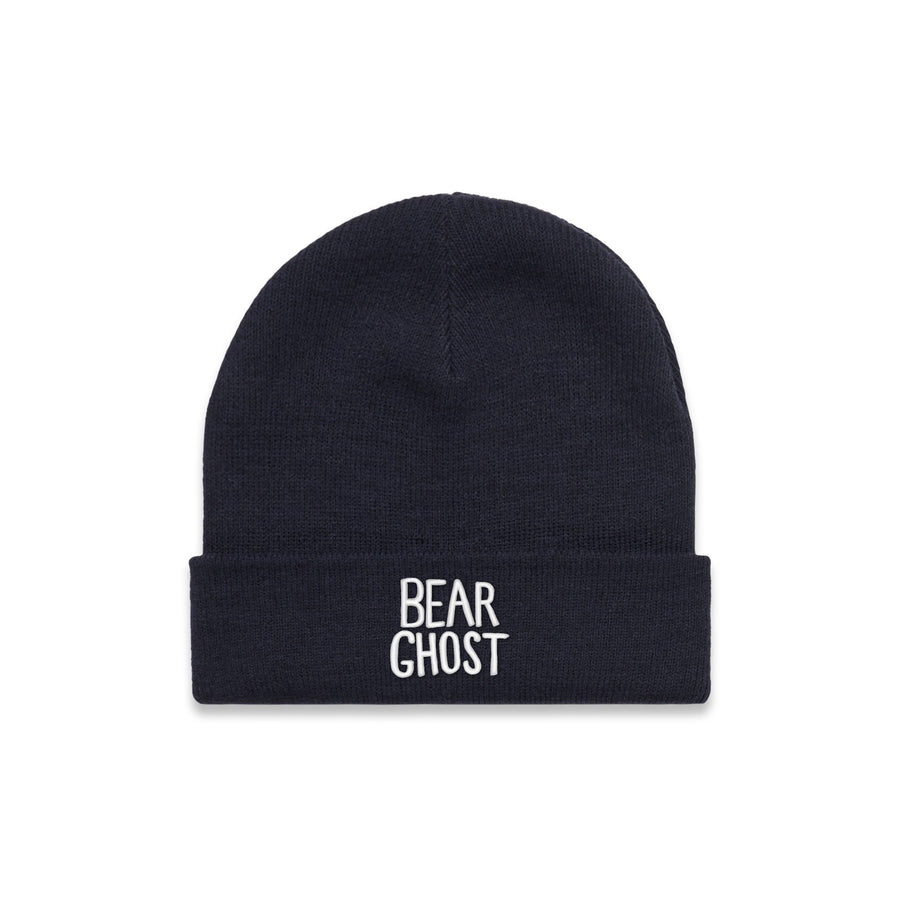 Bear Ghost Beanie Navy
