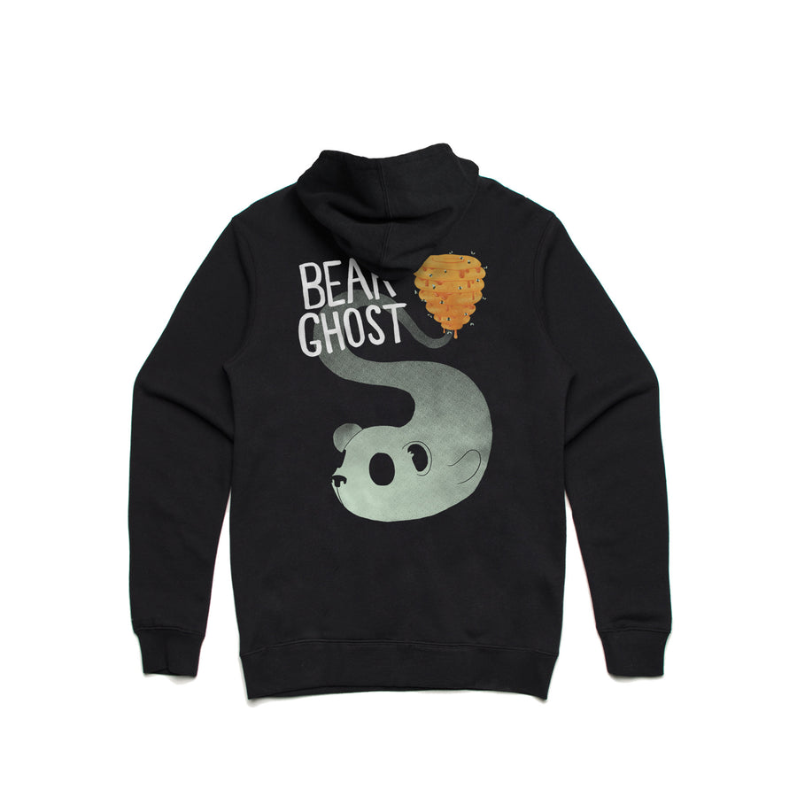 Bear Ghost Pullover Hoodie Black Back