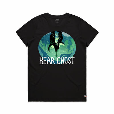 Bear Ghost Women's Tee Shirt Black