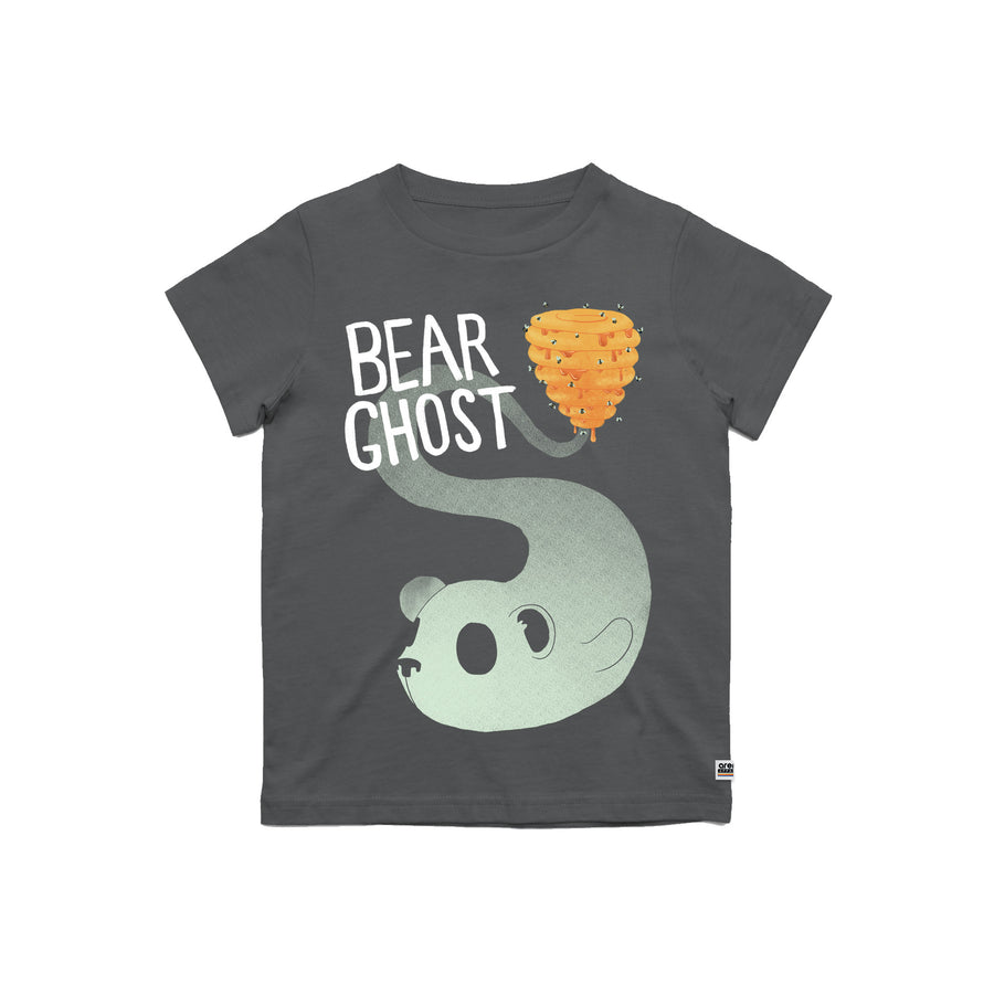 Bear Ghost Youth Tee Charcoal