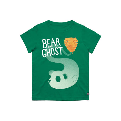 Bear Ghost Youth Tee Green