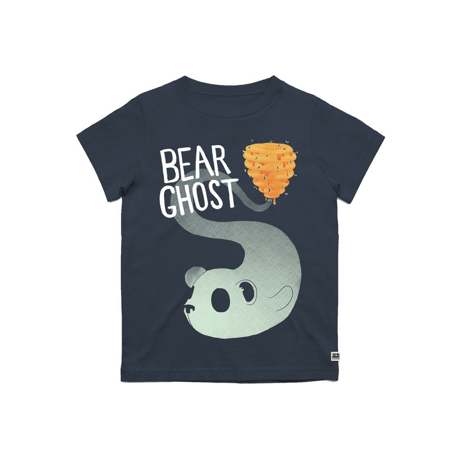 Bear Ghost Youth Tee Navy