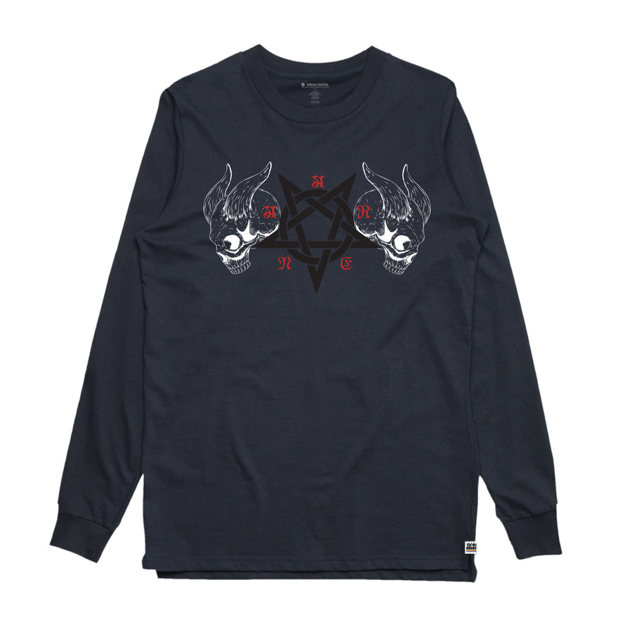 Black Metal Navy Long Sleeve Shirt