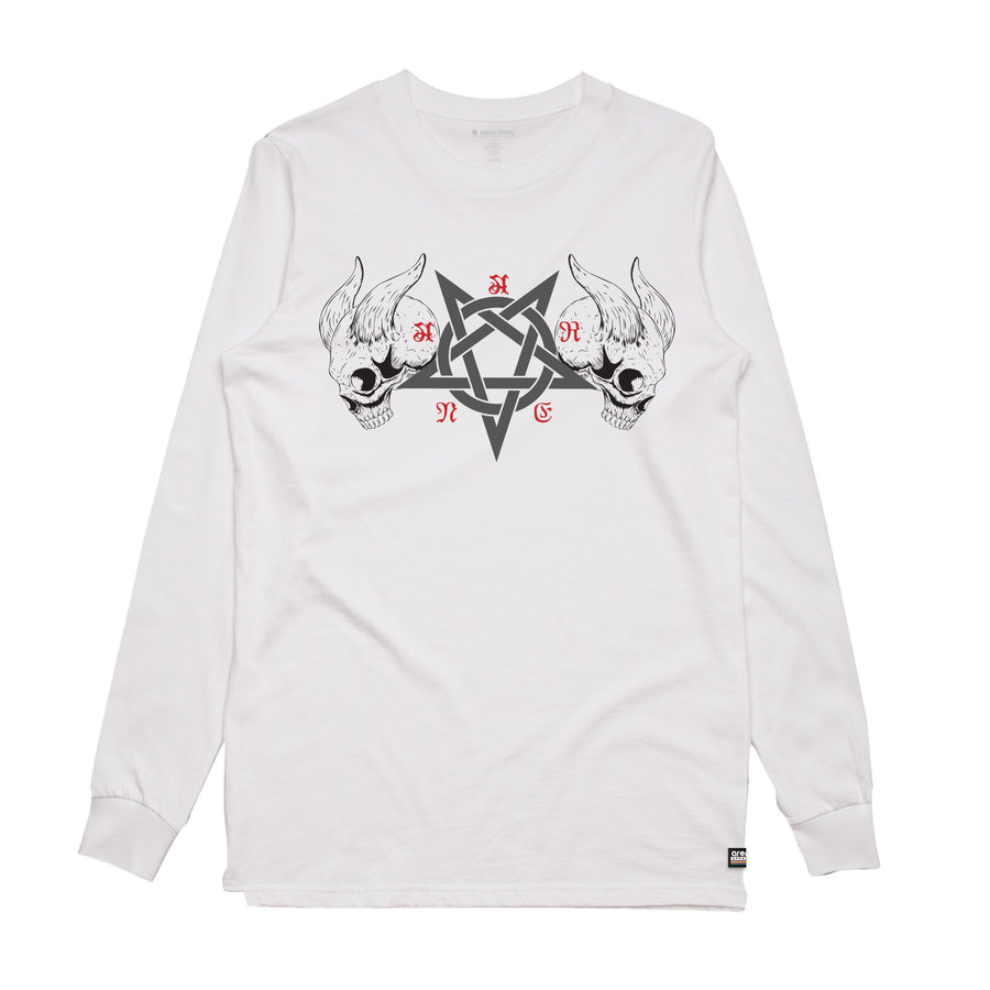Black Metal White Long Sleeve Shirt