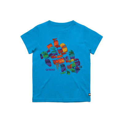 Arena Brush Strokes Blue Kid's Tee