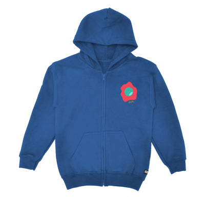 Green Eggs Blue Youth Zip Up Hoodie Front