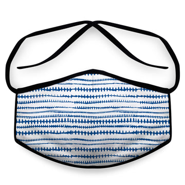 Blue Stitch- Arena Tour Mask (Includes 1 PM2.5 Carbon Filter) Reversible Face Mask