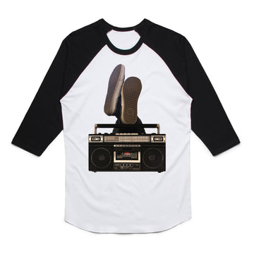 Boombox - Unisex Raglan Tee Shirt - Band Merch and On-Demand Designer Shirts