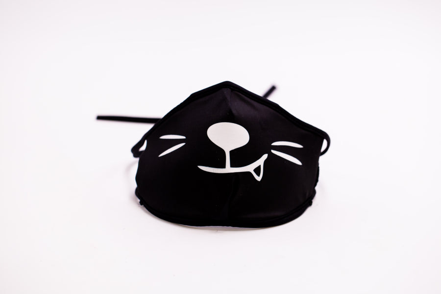 Cat Face- Arena Tour Mask (Includes 1 PM2.5 Carbon Filter) Reversible Face Mask