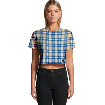 Blue Madras - Women's Cropped Tee | Arena