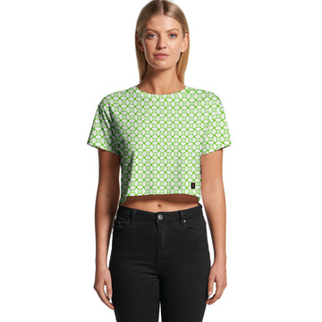 Green Tiles - Women's Cropped Tee | Arena