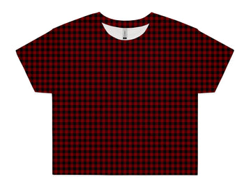 Women's Red Flannel Crop - All Over Print Tee Shirt | Arena