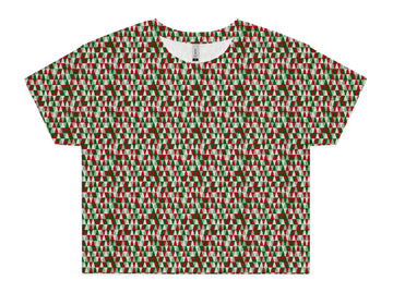 Women's Happy Holidays Crop - All Over Print Tee Shirt | Arena
