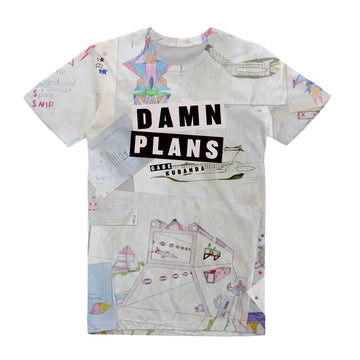 Gabe Kubanda - Damn Plans: Unisex All Over Tee Shirt | Arena